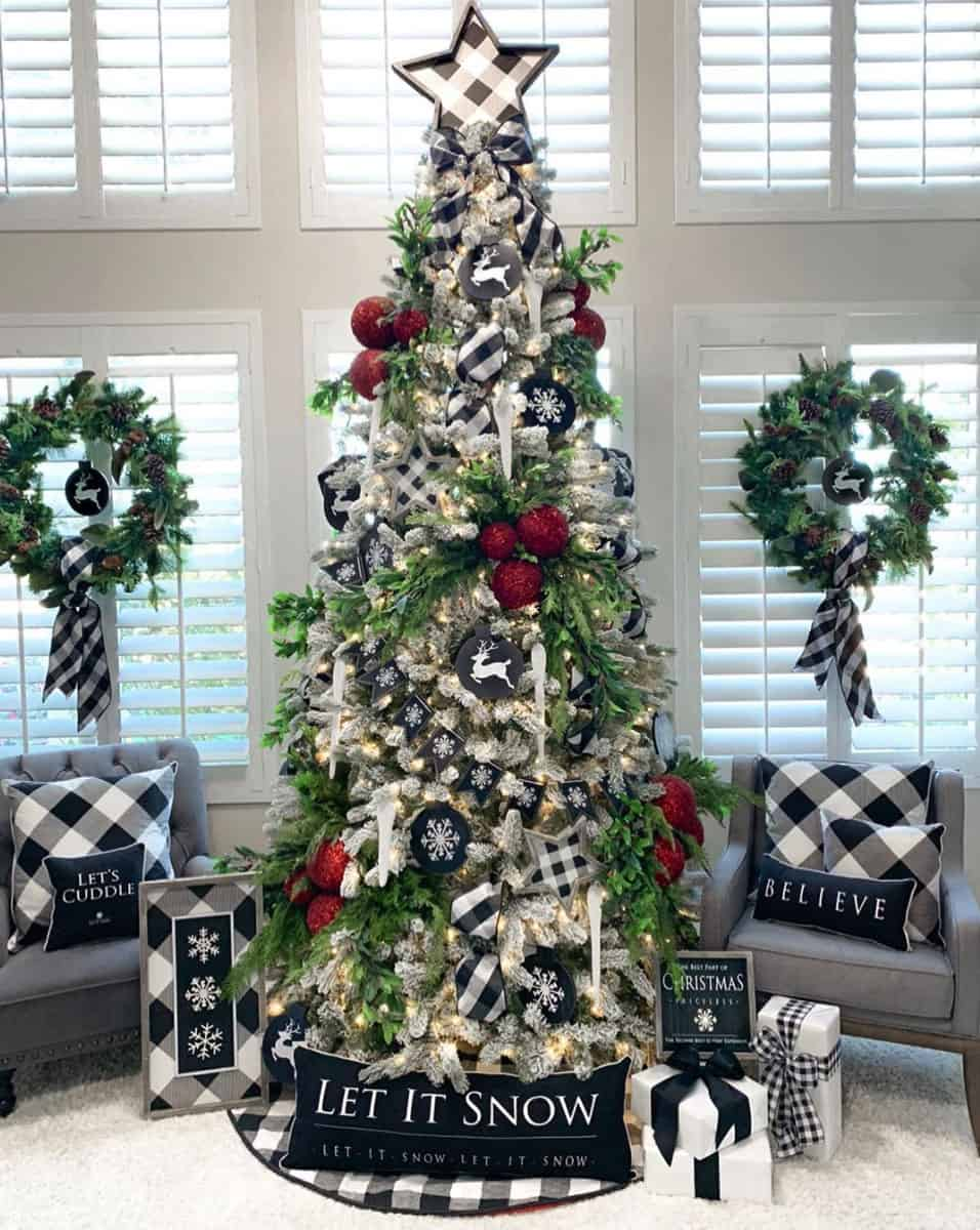 20 Incredibly Inspiring Ideas To Decorate With Flocked Christmas Trees