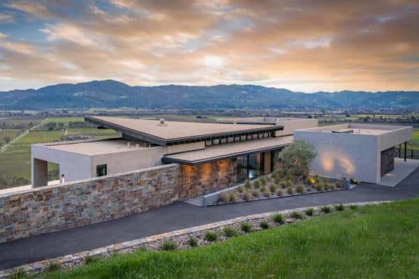 featured posts image for Breathtaking modern home nestled in rolling hills of Napa Wine Country