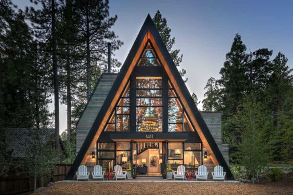 featured posts image for The most gorgeous rustic contemporary A-frame cabin in Lake Tahoe