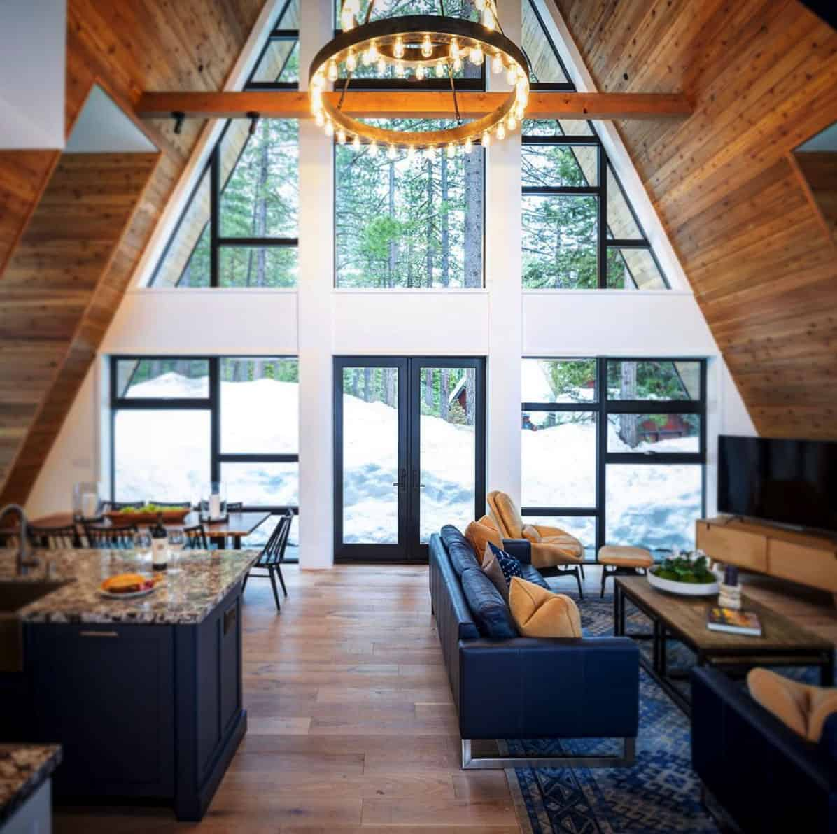 The Most Gorgeous Rustic Contemporary A Frame Cabin In Lake Tahoe