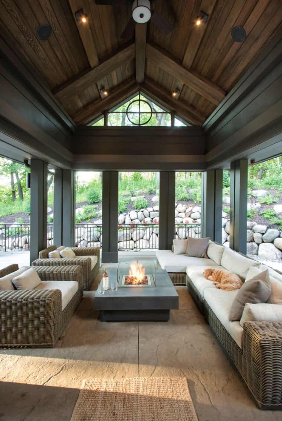contemporary-rustic-sunroom