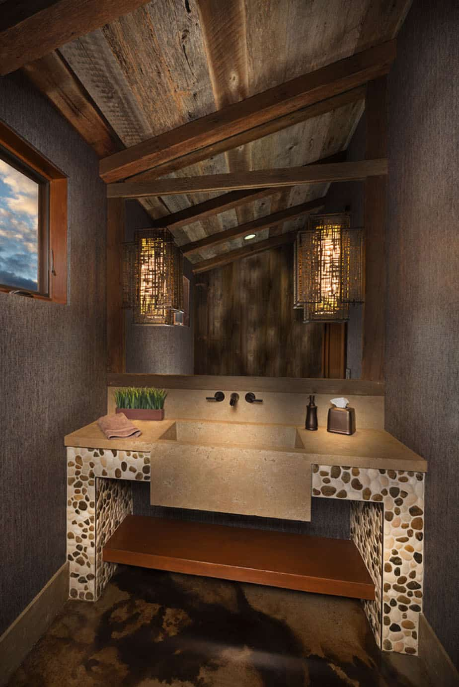ranch-house-rustic-powder-room