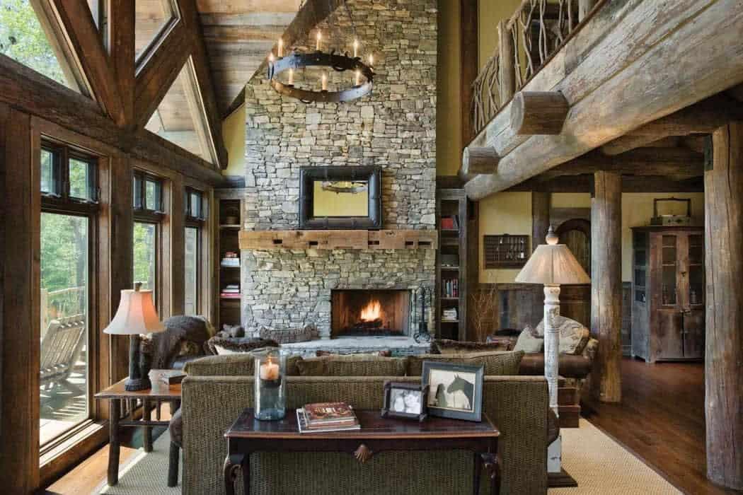 handcrafted-log-cabin-living-room