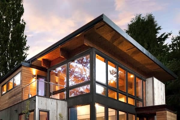 featured posts image for Industrial home in Seattle designed to look like a shipping container house