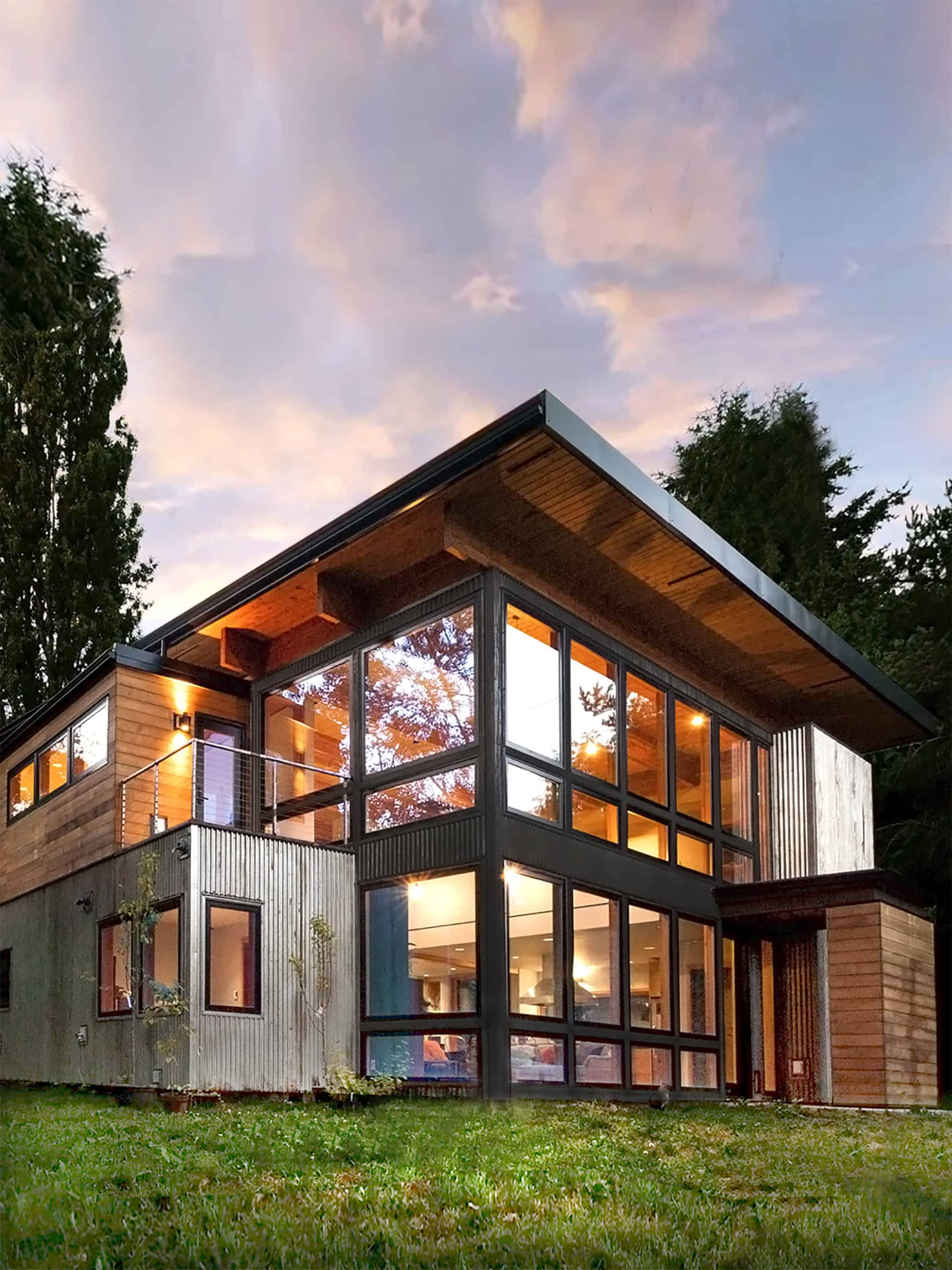 Industrial Home In Seattle Designed To Look Like A Shipping Container House