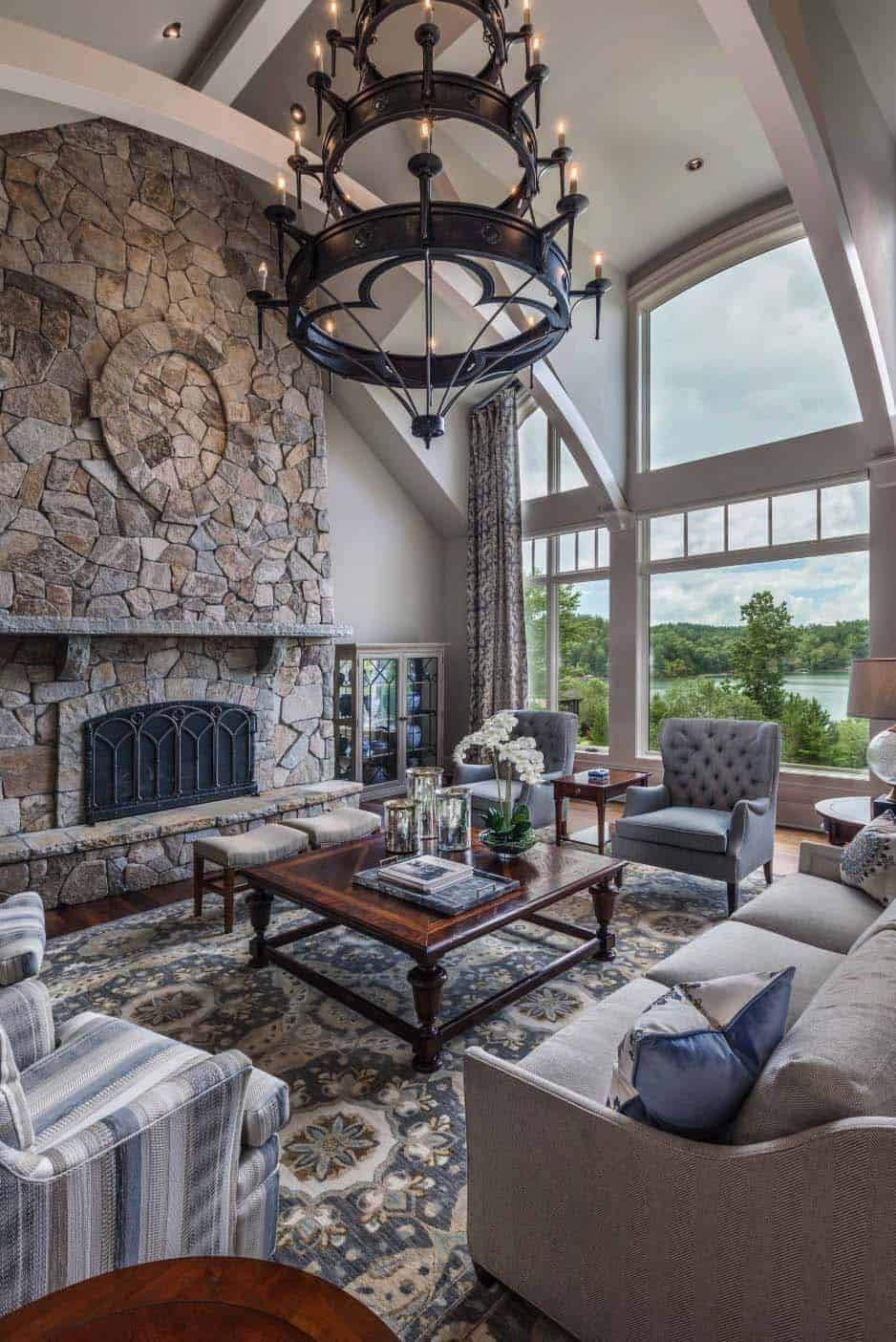 traditional-style-lake-house-living-room