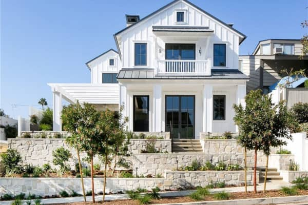 featured posts image for Striking modern farmhouse with industrial elements in Corona Del Mar