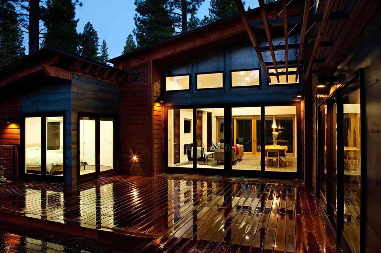 Mountain modern prefabricated home in Tahoe boasts indoor ...
