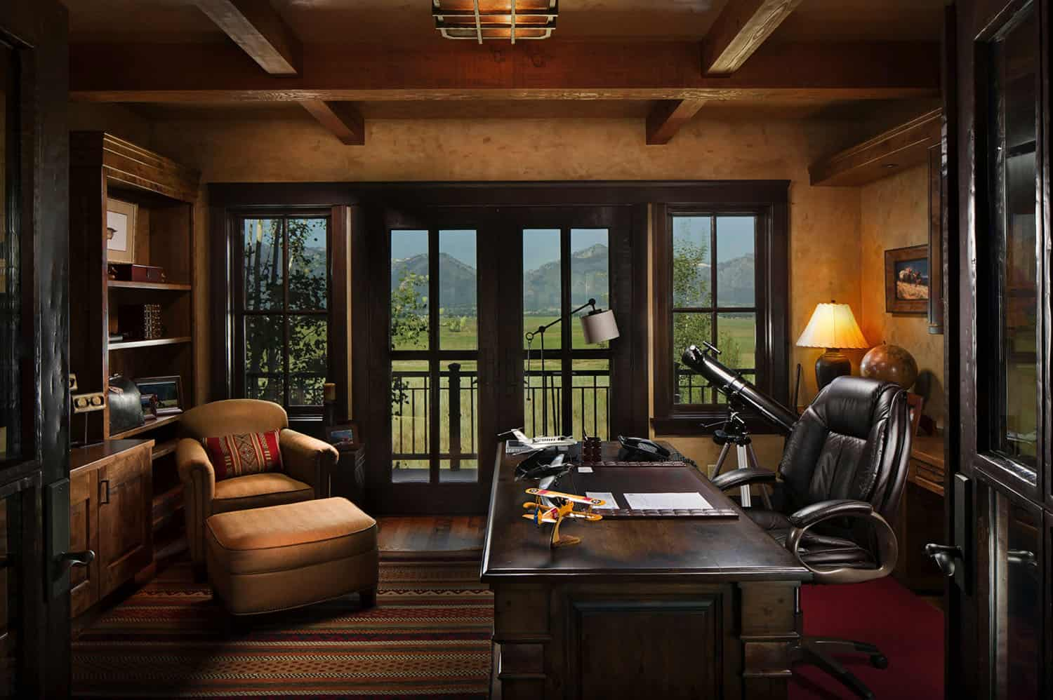 rustic-home-office