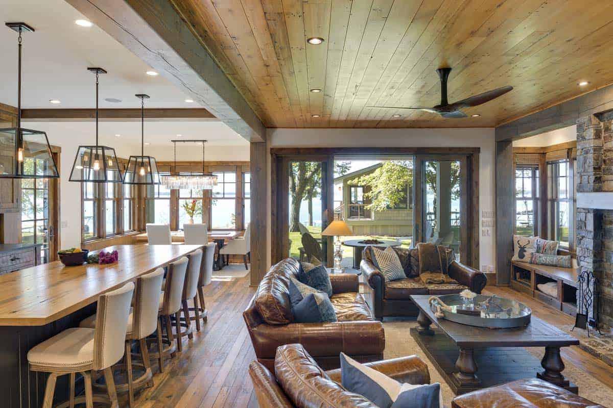 rustic-lake-house-living-room