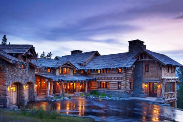 featured posts image for Mountain chic cabin exudes rustic-luxe style in Big Sky Country