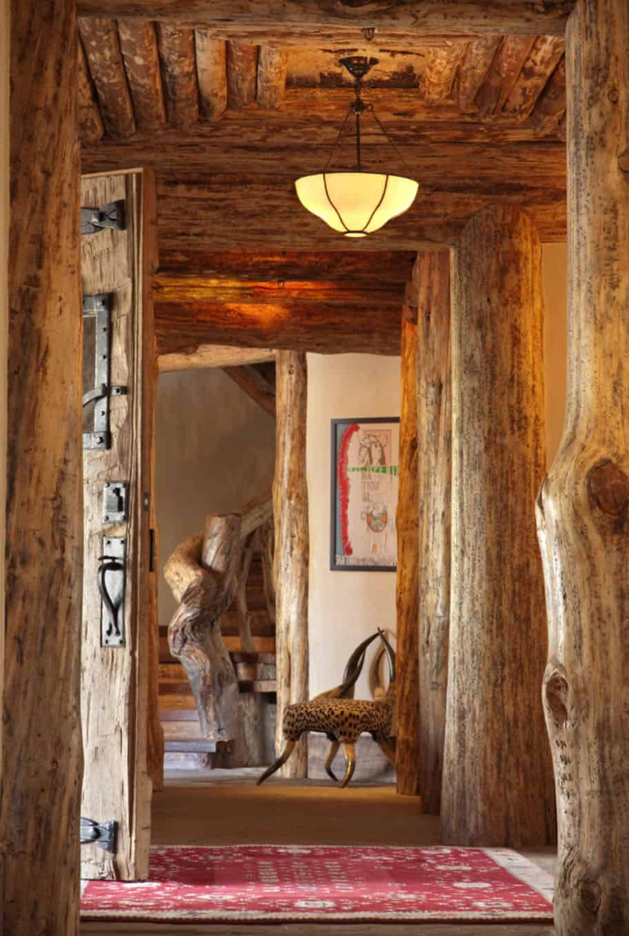 mountain-chic-cabin-rustic-entry