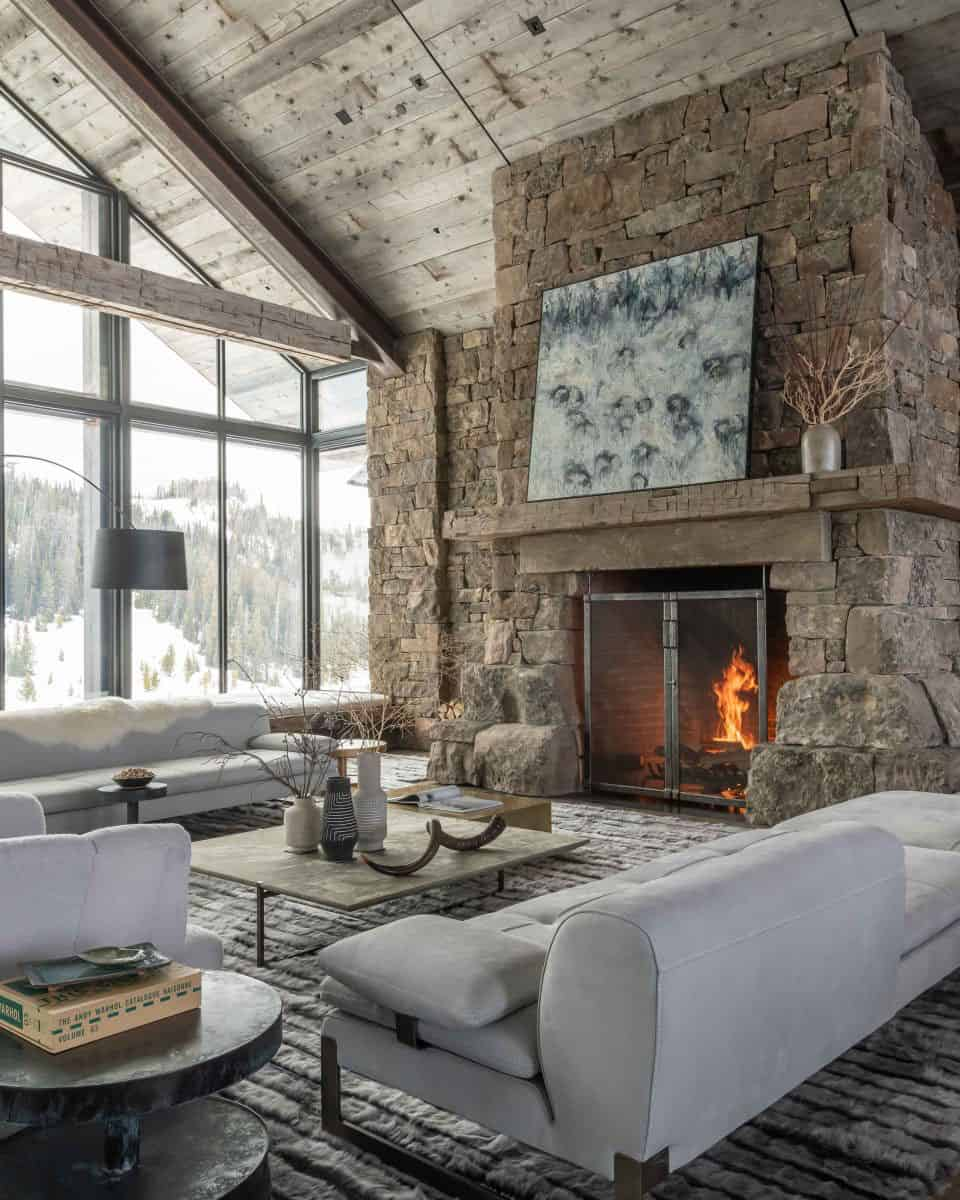 Dreamy rustic-modern mountain dwelling surrounded by Big Sky Country