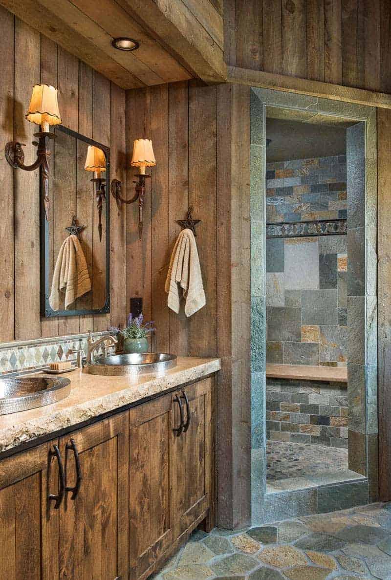 rustic-timber-frame-cabin-bathroom