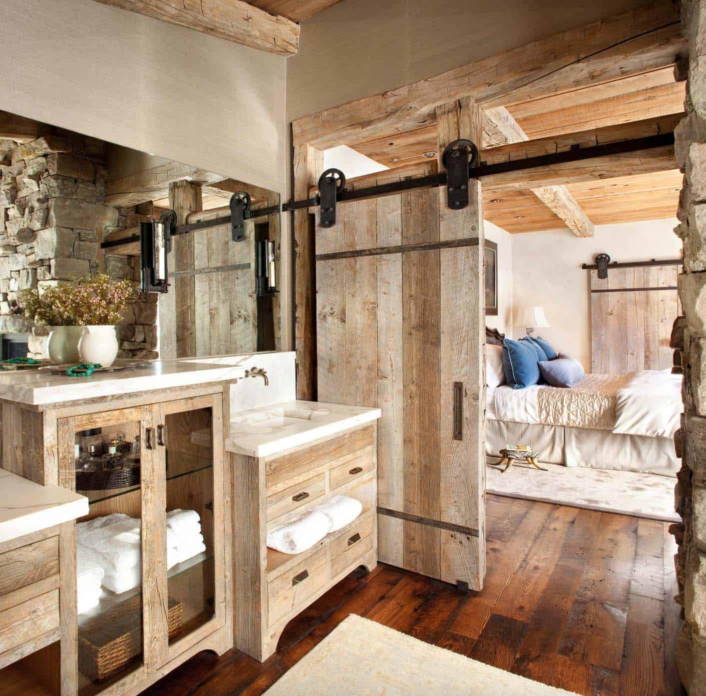 rustic-ski-lodge-retreat-bathroom-sliding-barn-door