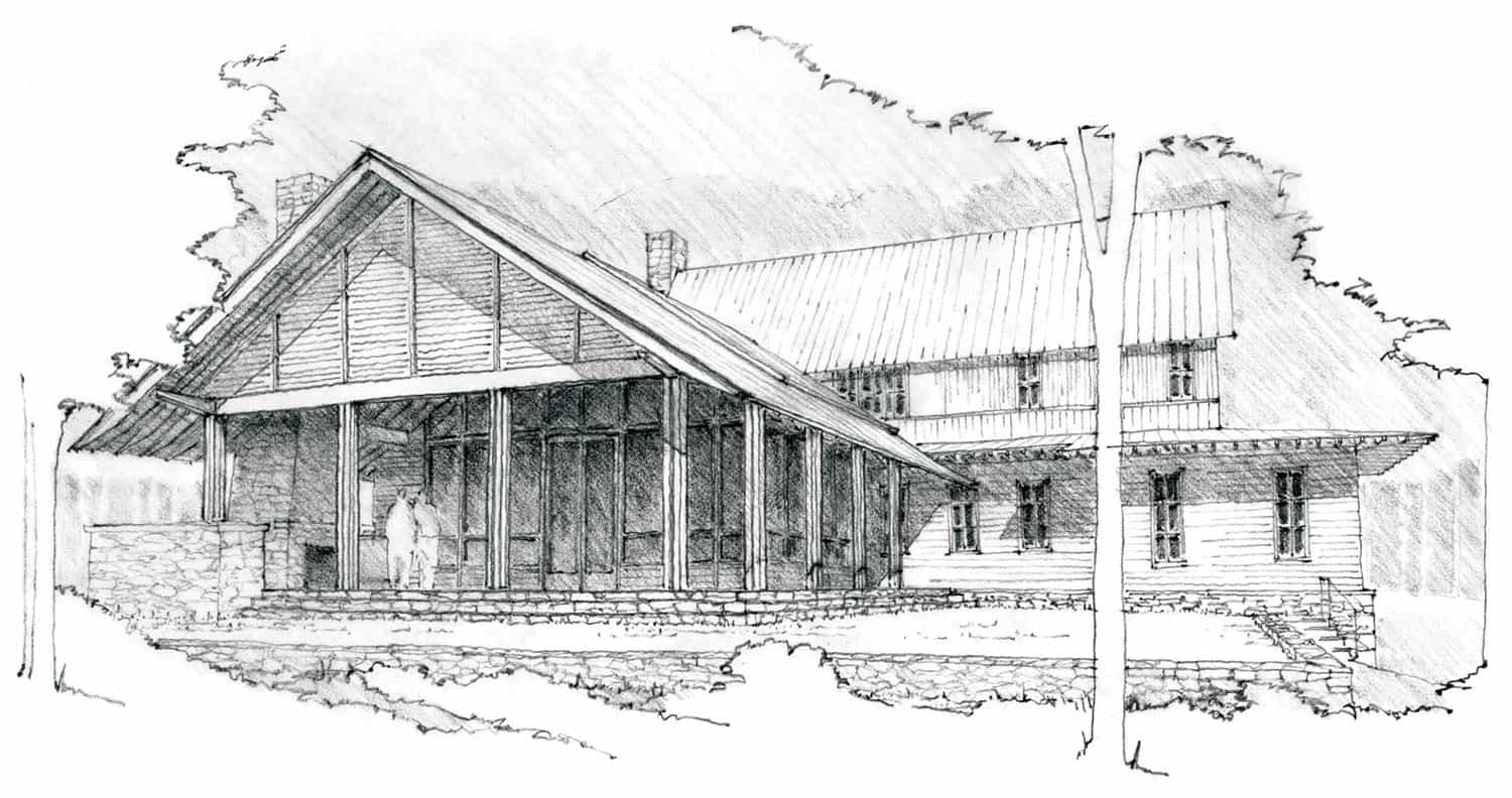 residence-transitional-exterior-sketch