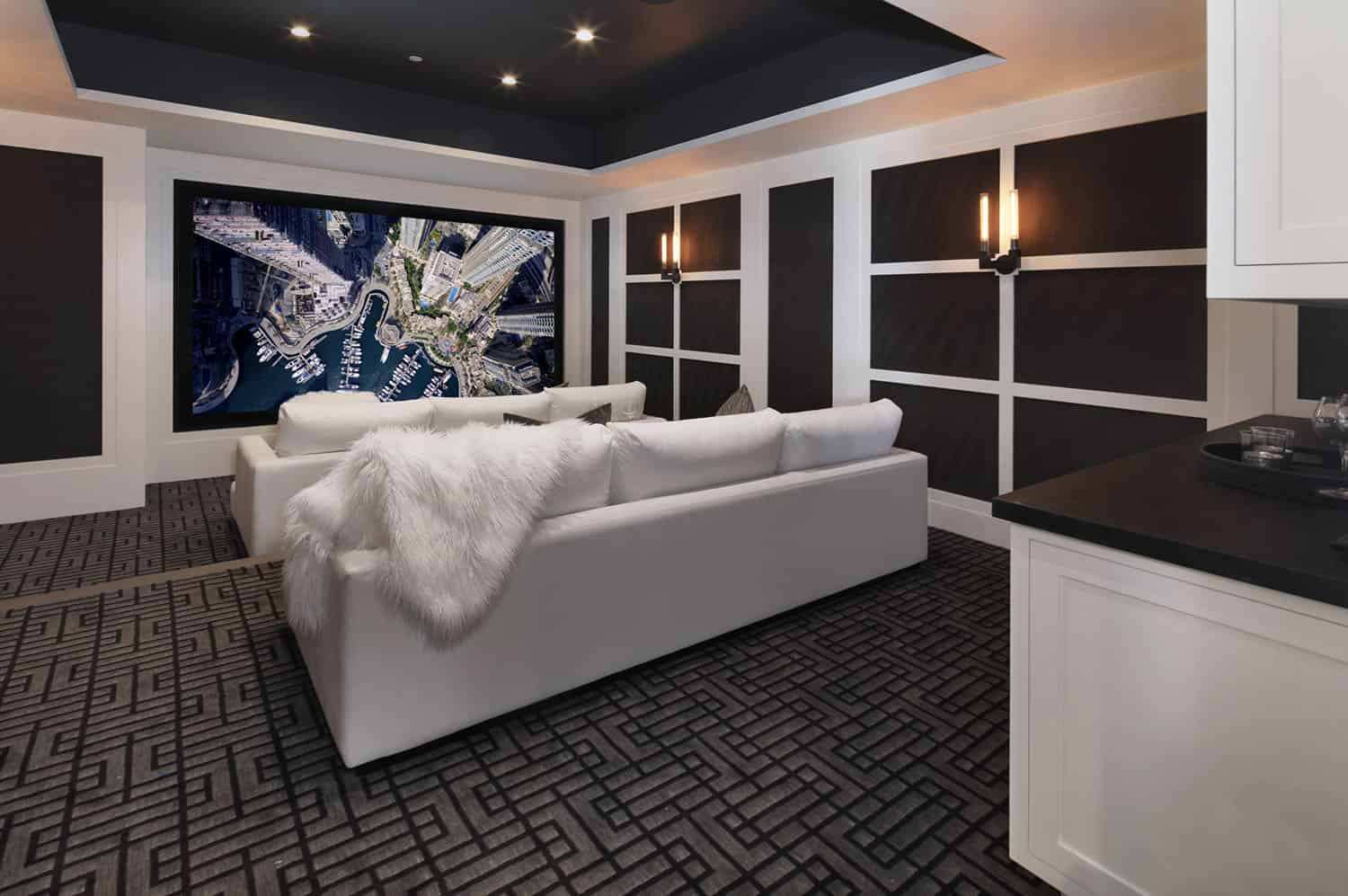 beach-style-home-theater
