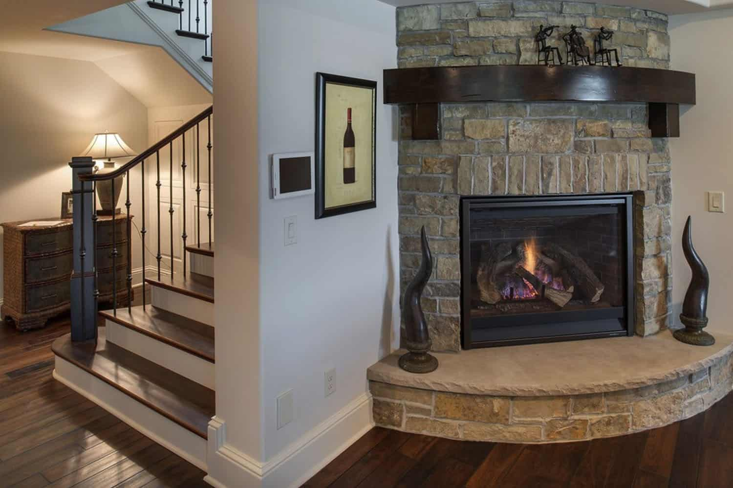 french-country-traditional-basement