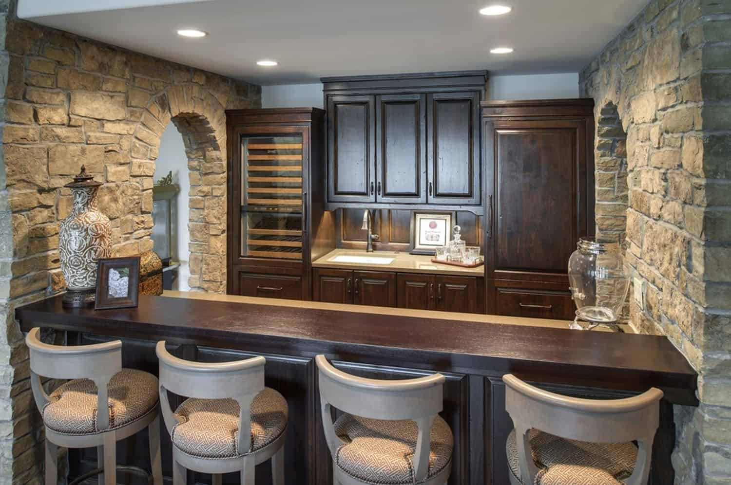 french-country-traditional-home-bar