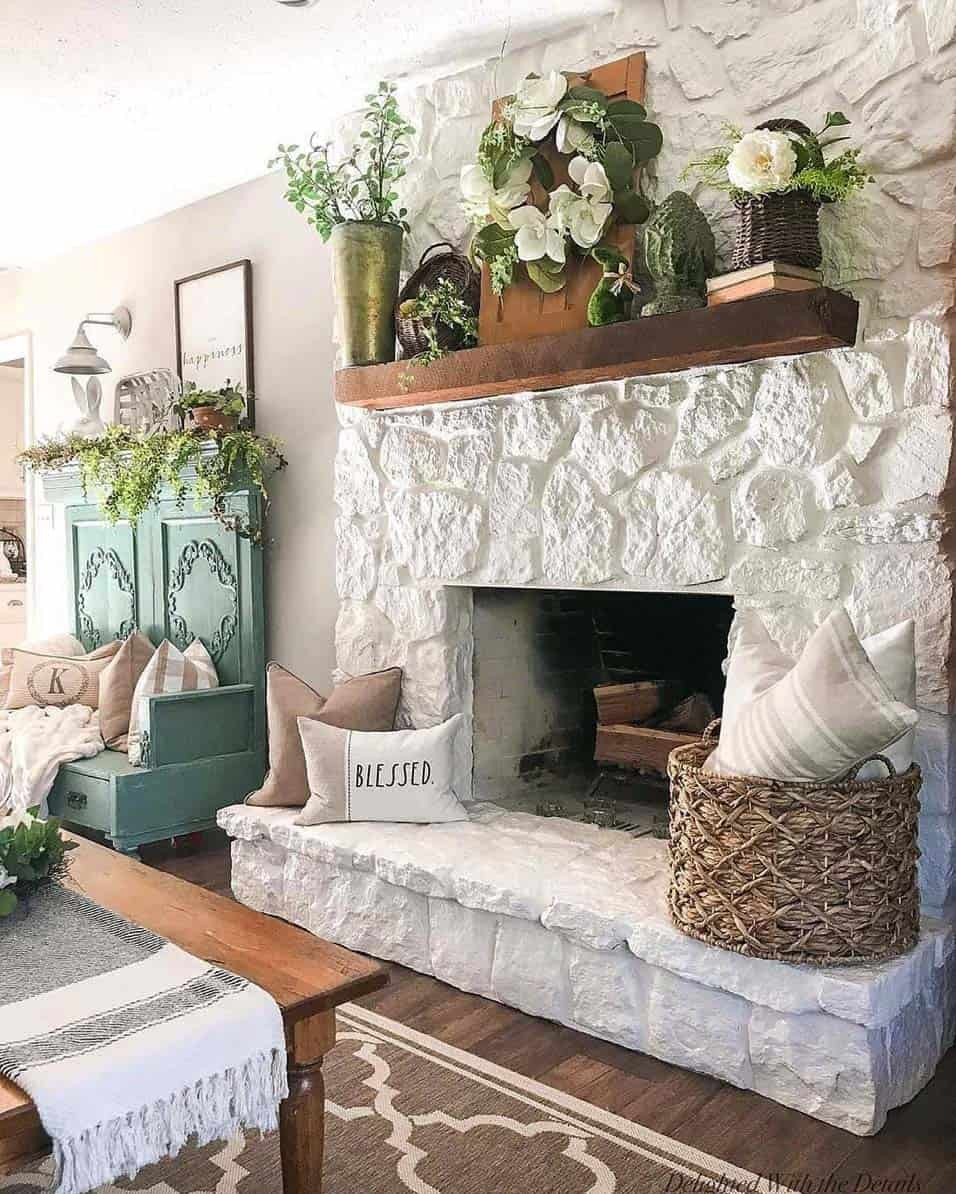 fresh-ideas-for-infusing-spring-into-your-home-fireplace-mantel