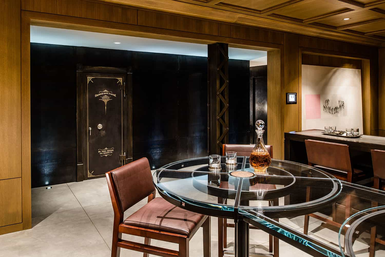 transitional-basement-bar