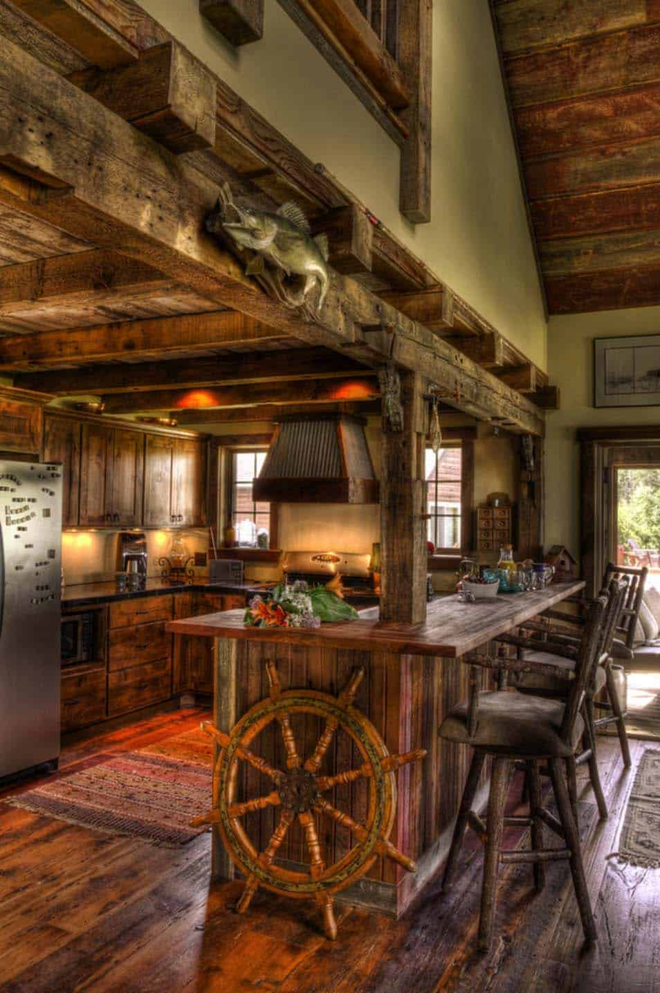 rustic-lakefront-cabin-kitchen