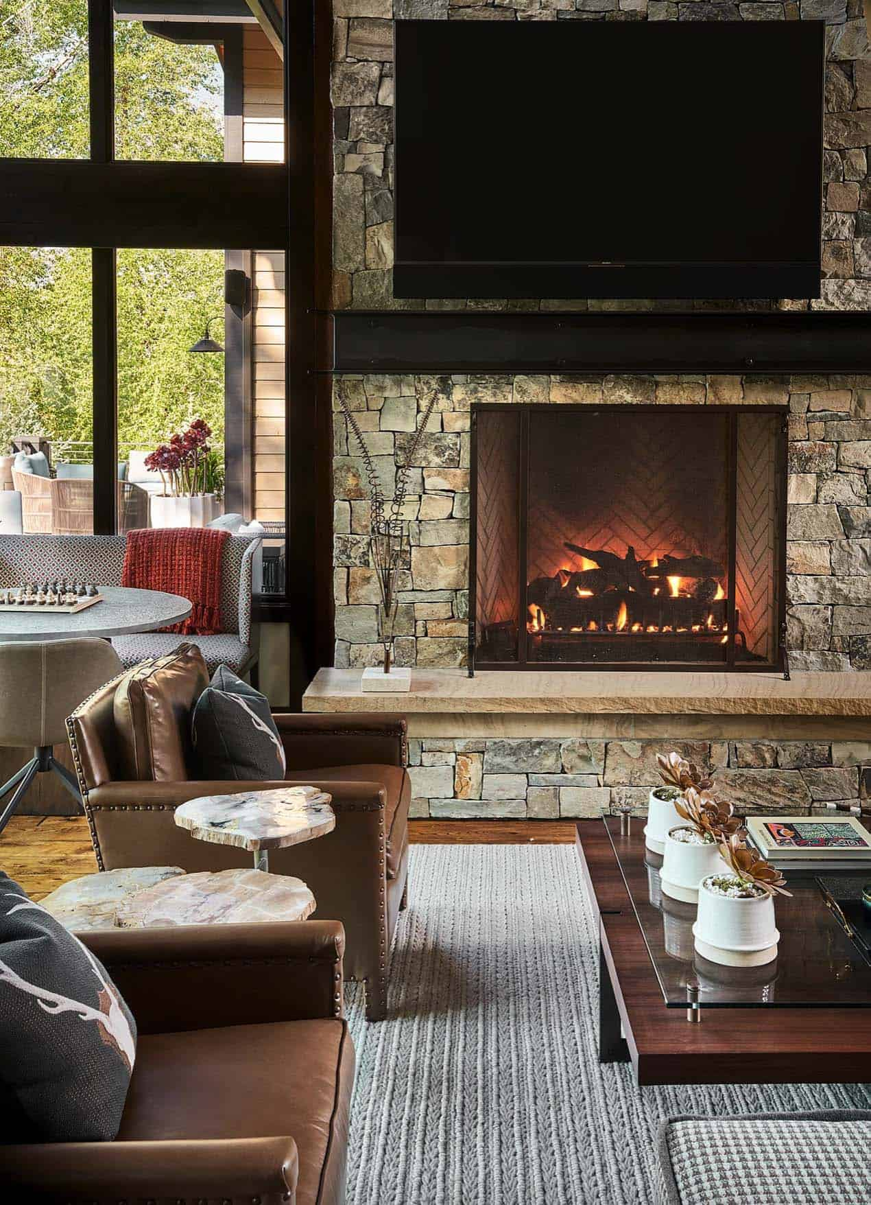 rustic-living-room-fireplace
