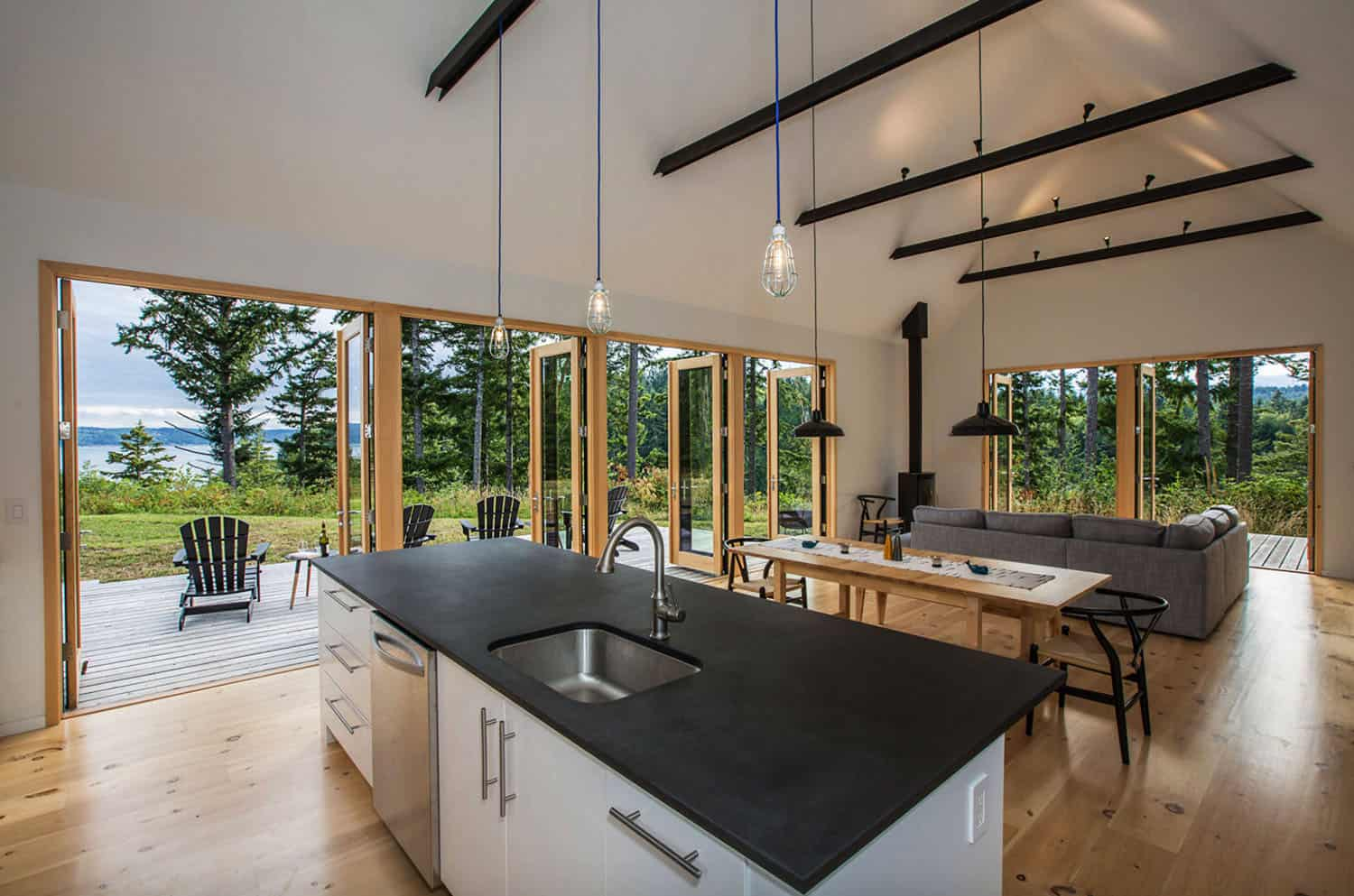 waterfront-modern-cabin-kitchen