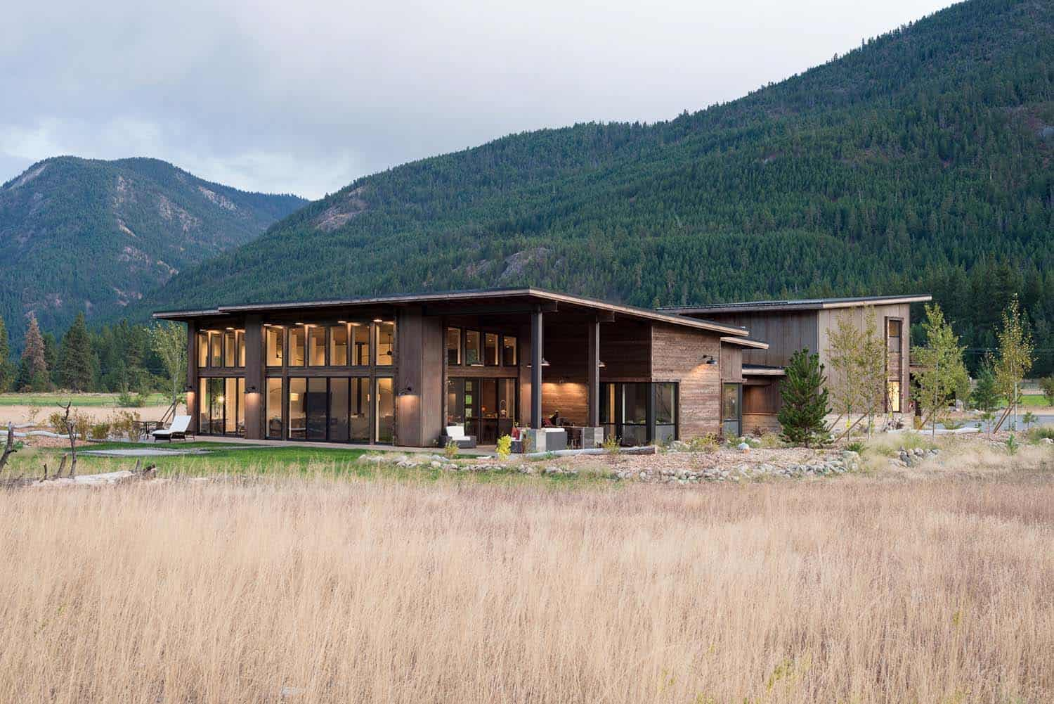 Modern-rustic home designed to withstand wildfires in the North Cascades