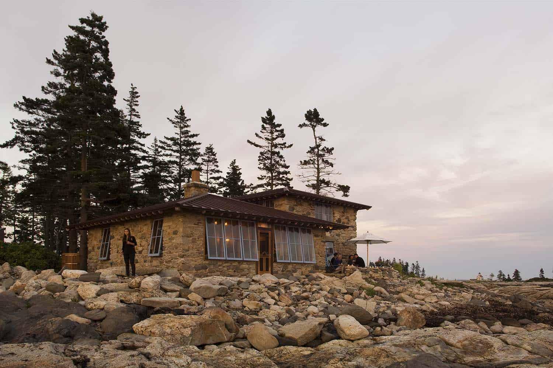 Romantic stone cottage retreat nestled on Hunting Island, Maine