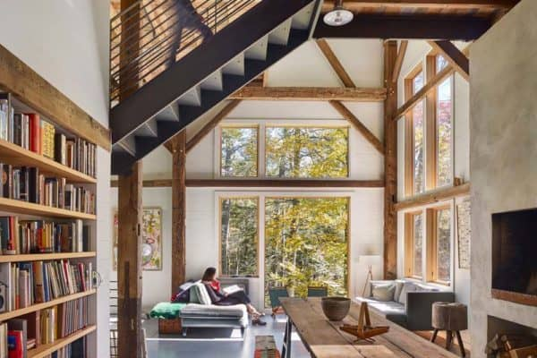featured posts image for Bunkhouse getaway with barn-like design in rural New York