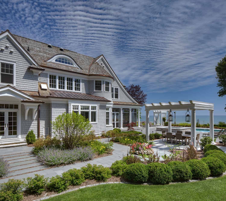 Beautiful Coastal Shingle Style Home Nestled Along Lake Michigan