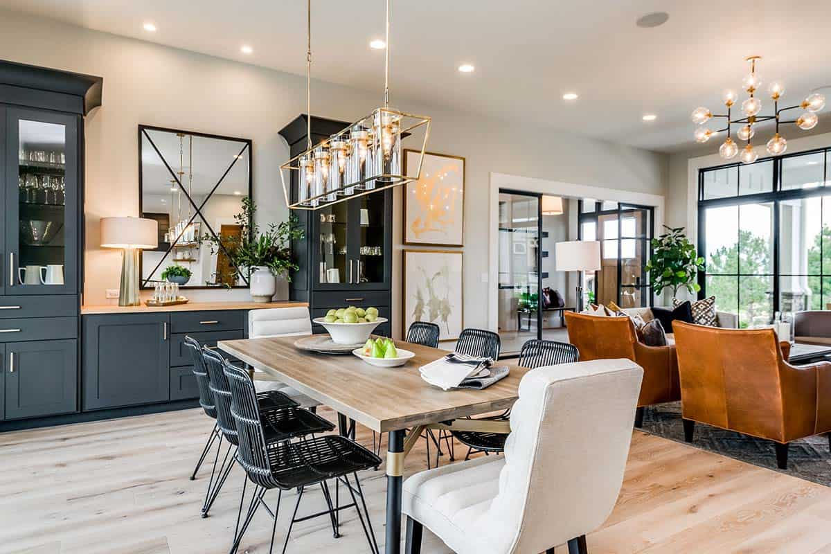 Urban Farmhouse Exudes A Refreshingly, Urban Farmhouse Dining Room