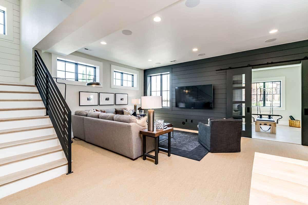 urban-farmhouse-basement-media-room