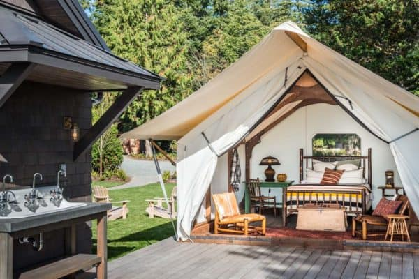 featured posts image for Whidbey Island retreat designed with a unique camp-like setting