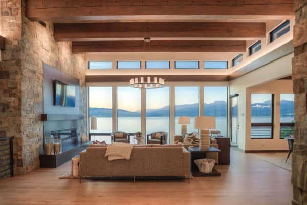 featured posts image for Mountain modern lakeside home in Montana surrounded by tranquility