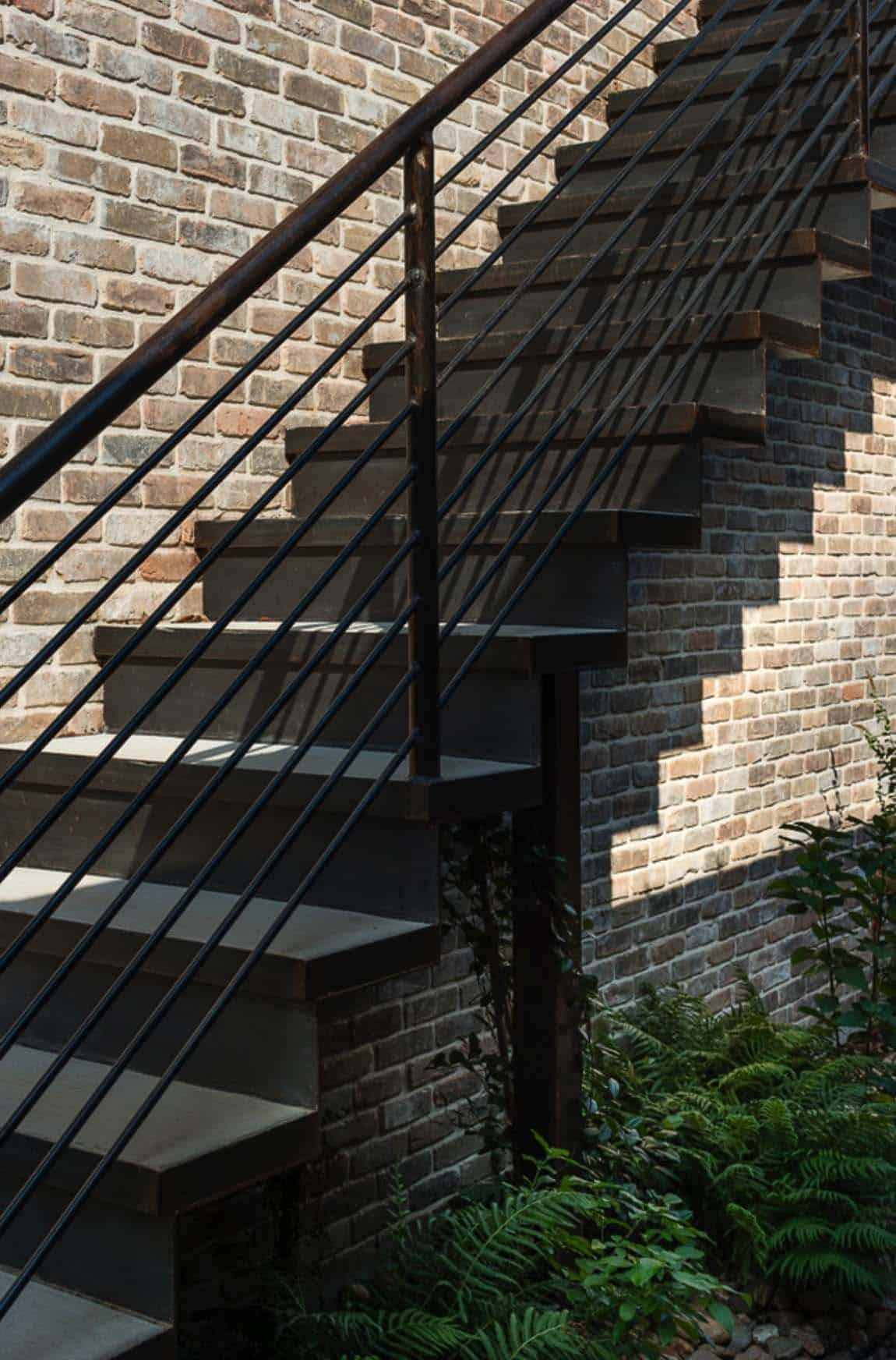 contemporary-rustic-home-exterior-staircase