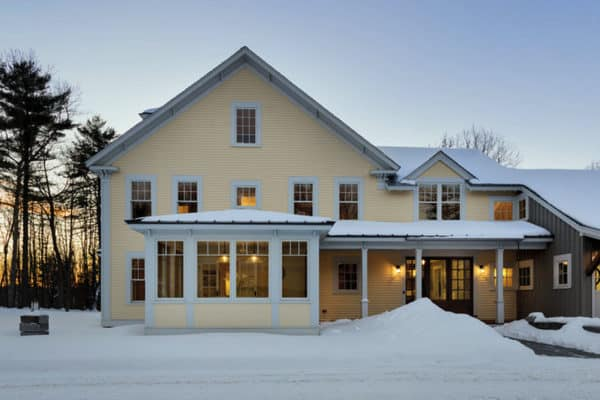 featured posts image for Stunning New England farmhouse nestled on woodsy property in Maine