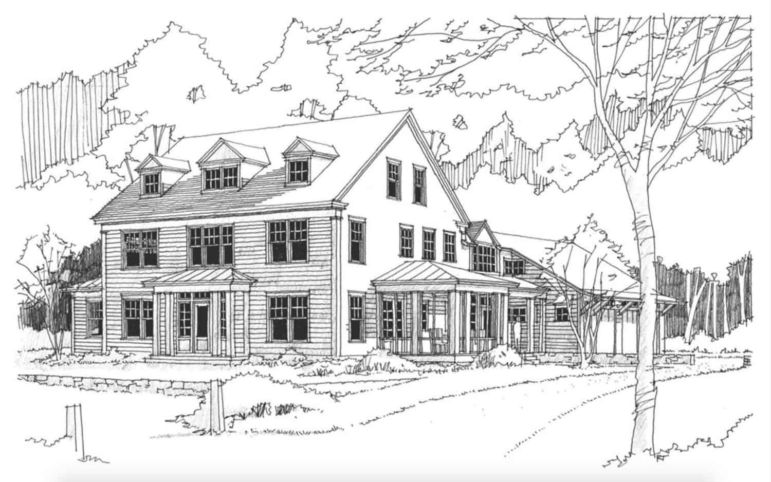 farmhouse-traditional-sketch