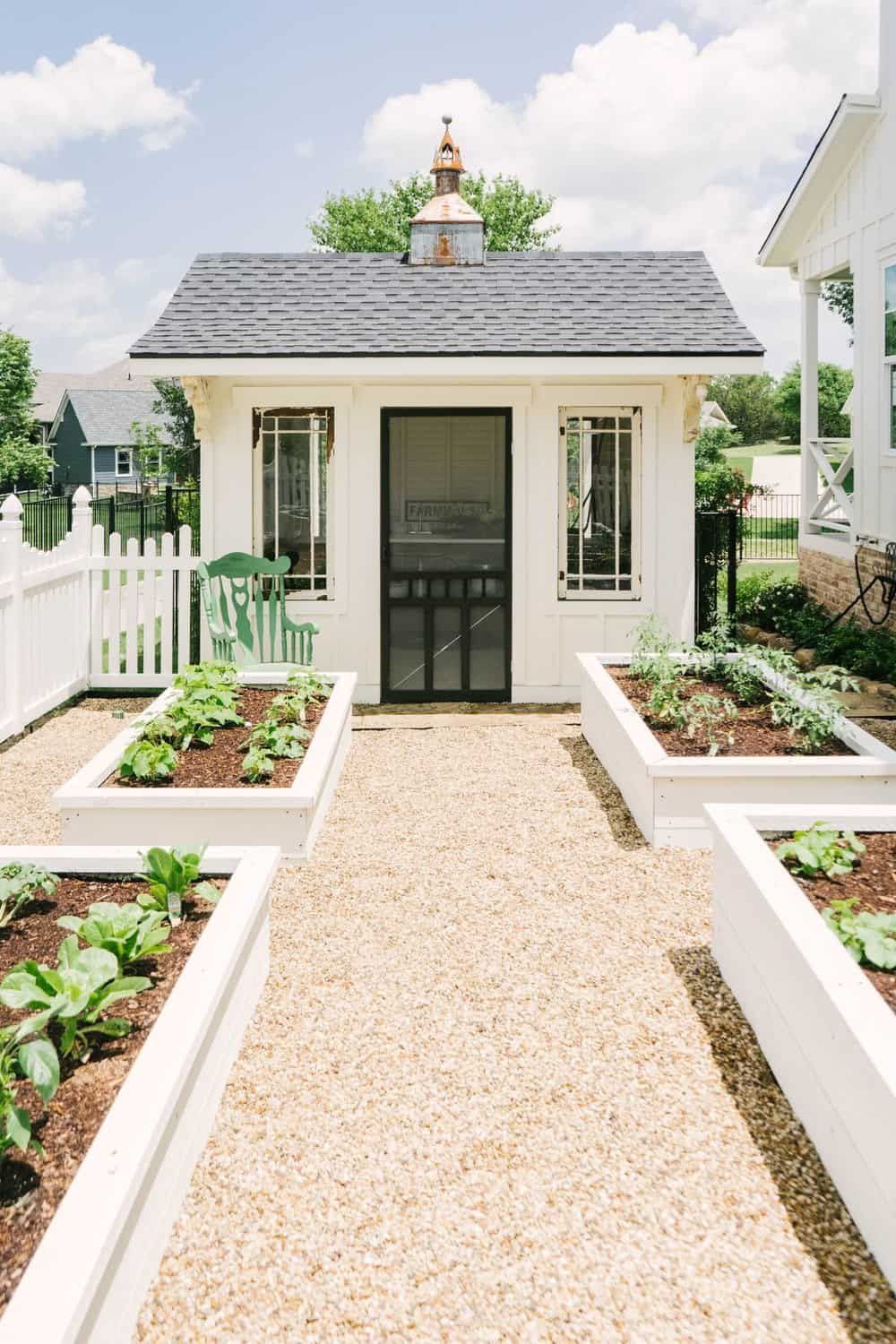 raised-garden-beds-with-a-potting-shed