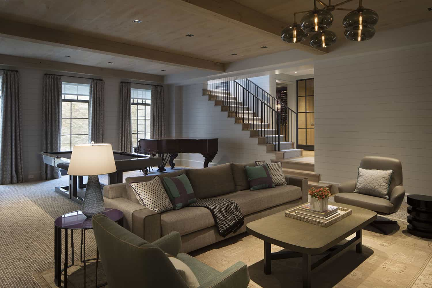 transitional-style-family-room-basement