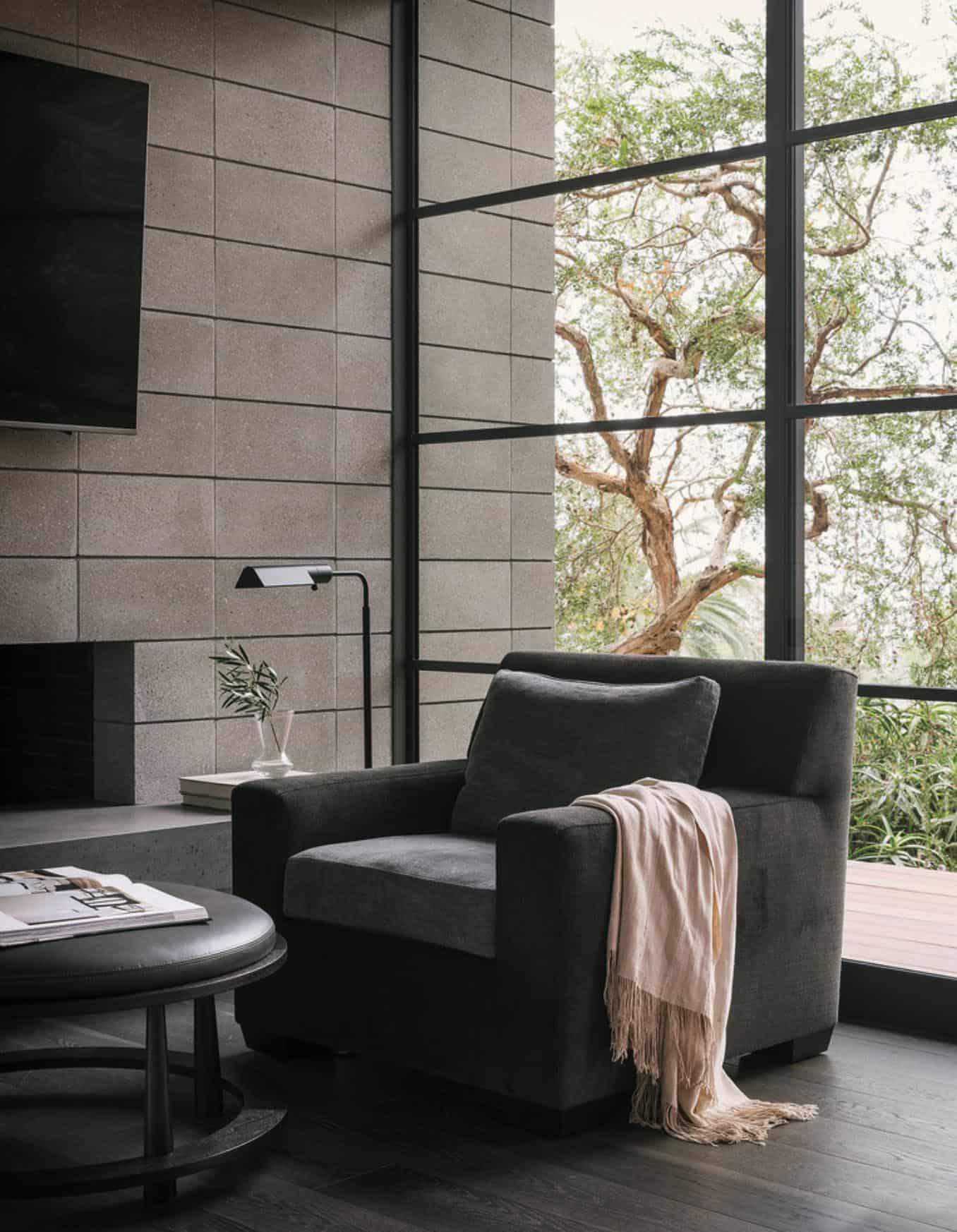 midcentury-bedroom-sitting-area-fireplace
