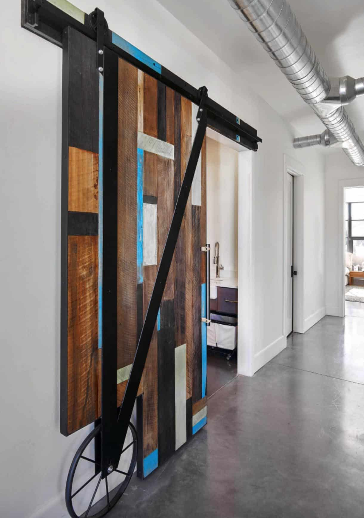 farmhouse-hall-sliding-barn-door
