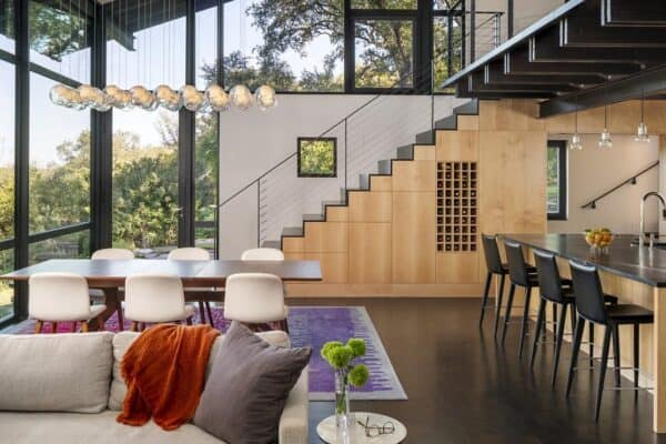 featured posts image for Modern treehouse-inspired home provides a sanctuary in Texas