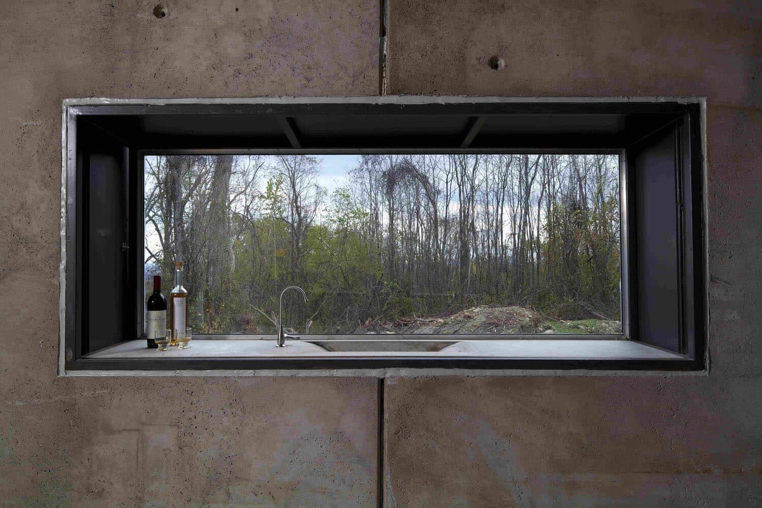 concrete-cabin-window-sink