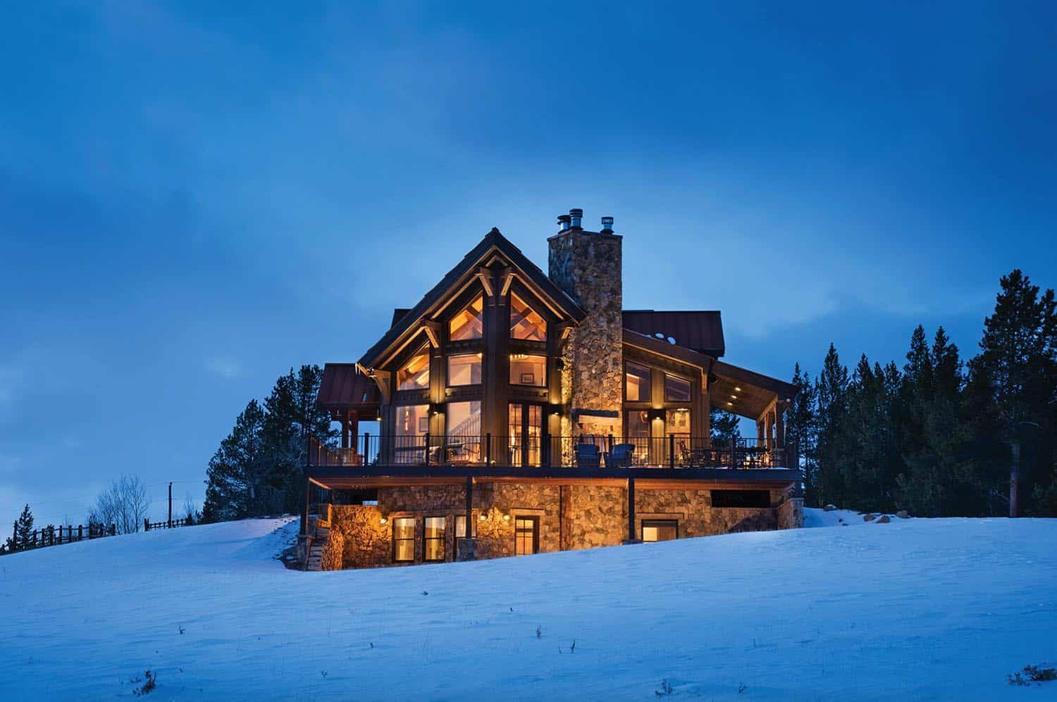 Delightful Timber Frame Mountain Cabin Perched On A Colorado Hillside