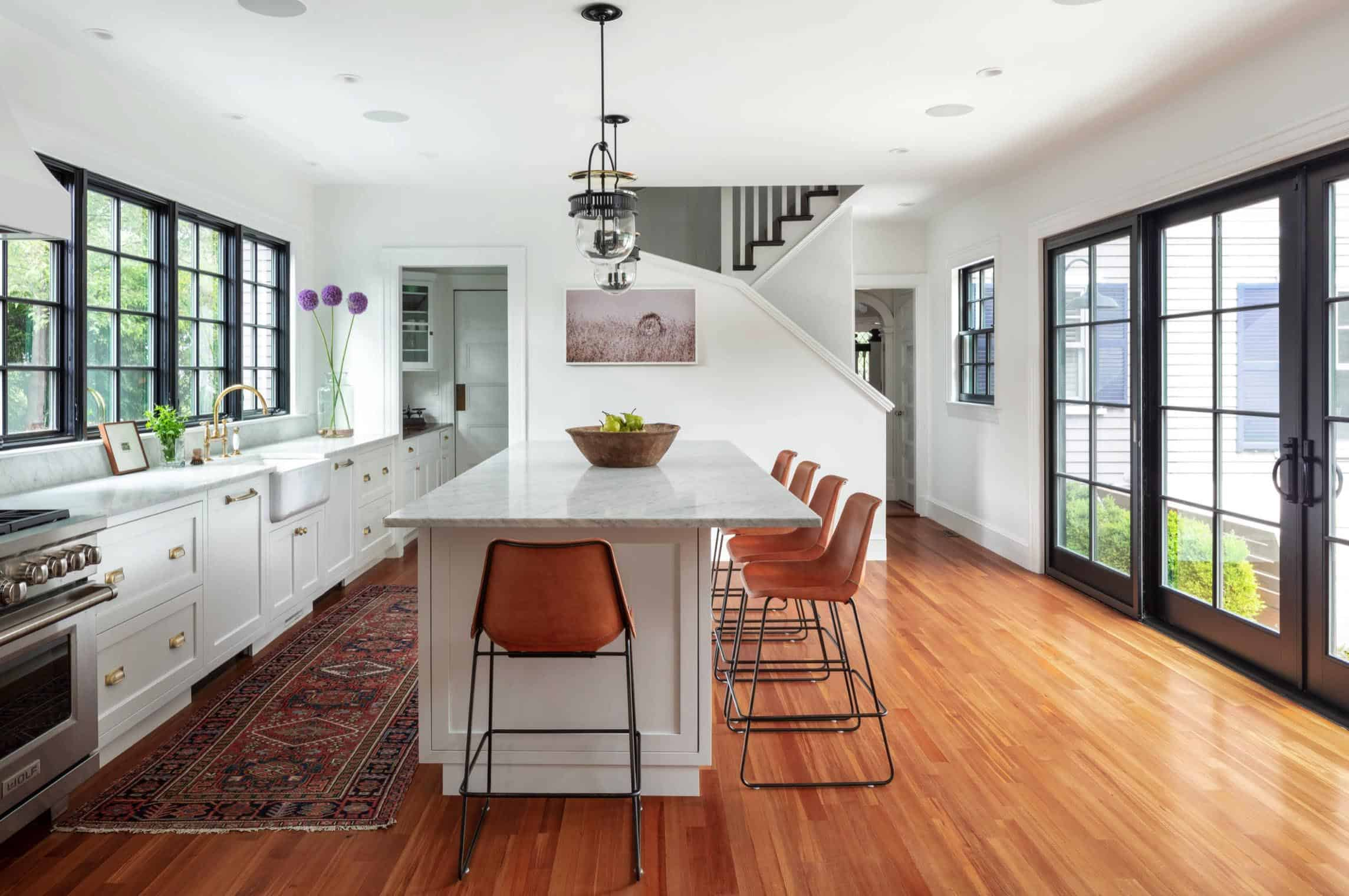 Bright And Dreamy Kitchen For A Renovated Colonial Home In New England