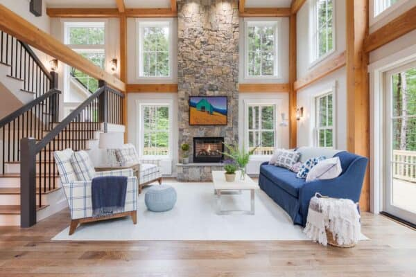 featured posts image for Delightful barn style home in New Hampshire with a cottage-inspired feel