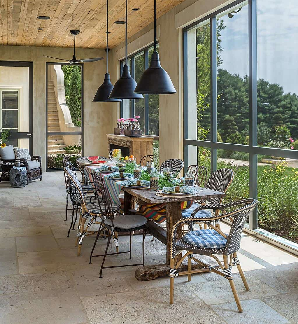 farmhouse-modern-sunroom-dining-room