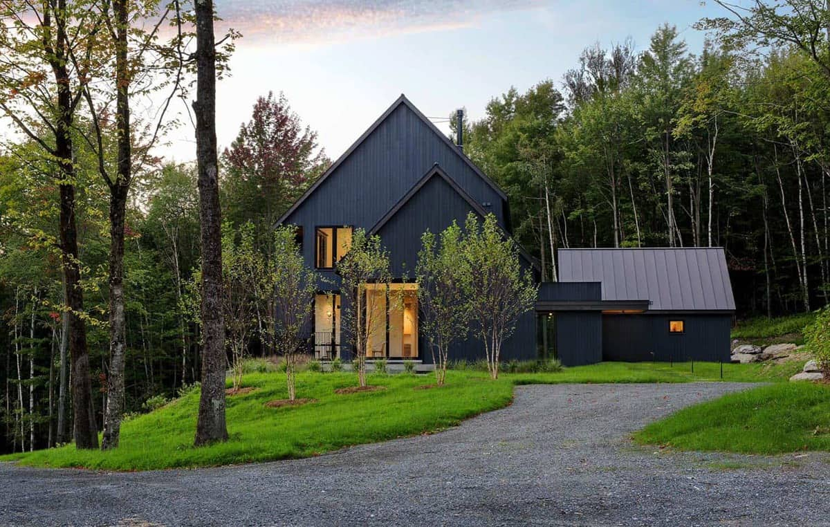 Elegant farmhouse surrounded by a beautiful woodsy property in Vermont